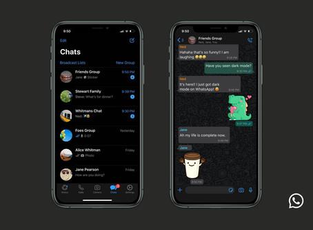 ¡Sin hacks! El modo oscuro es oficial en WhatsApp.