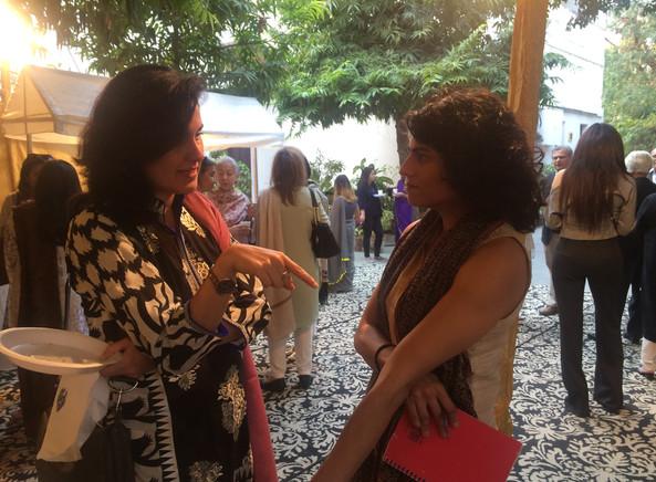 Kamila Shamsie and Shan Vahidy