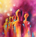 Abstract-random-faces-Abstract-Painting-