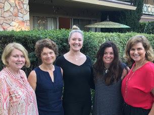 WIRE Board Members: Diane Sheardown, Allene Zanger, Katherine Loarie, IdaRose Sylvester, and Cathy Boone
