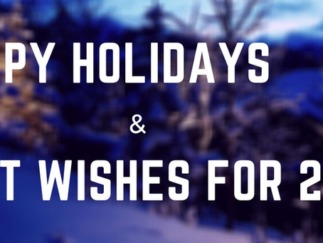 Happy Holidays & Best Wishes for the New Year!
