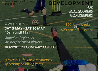 Learn how to be a Striker or Goalkeeper in Football with Nine One's new Development Classes