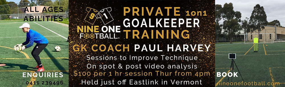 Private Goalkeeper Training Melbourne