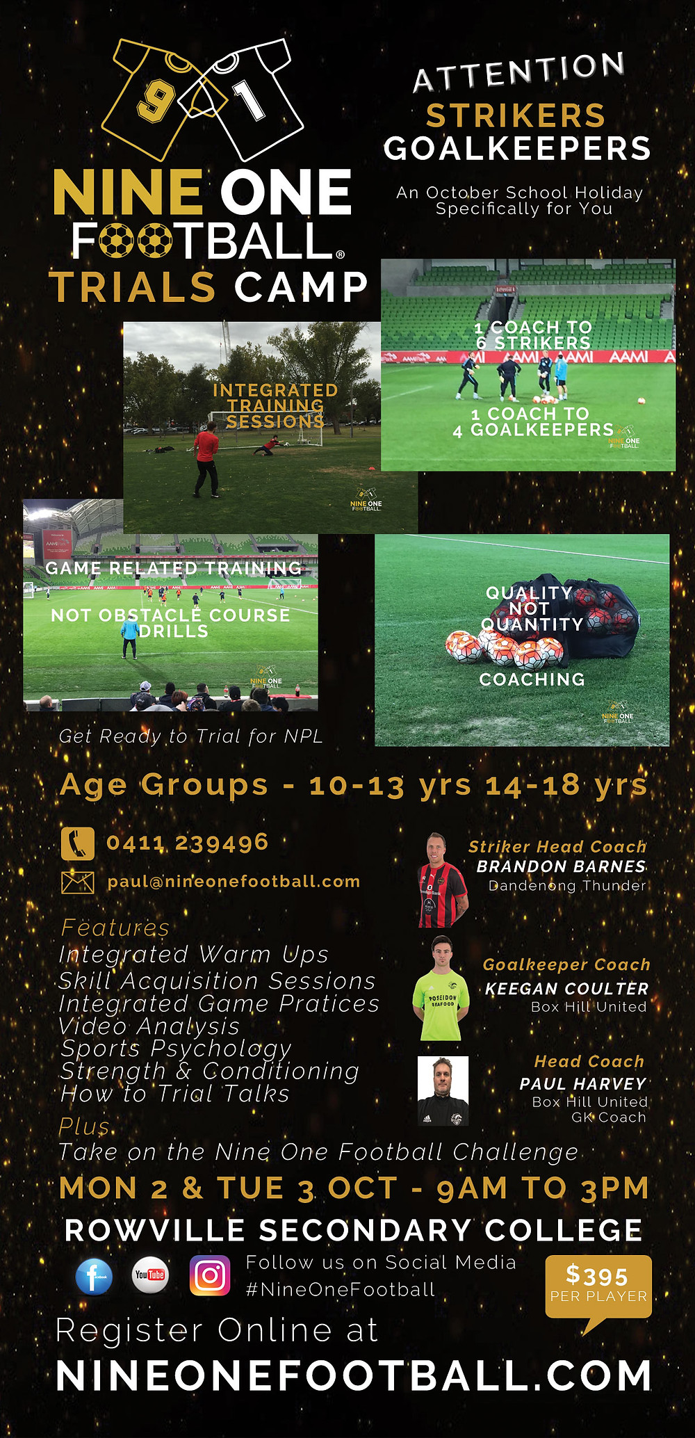 Nine One Football Trials Camp