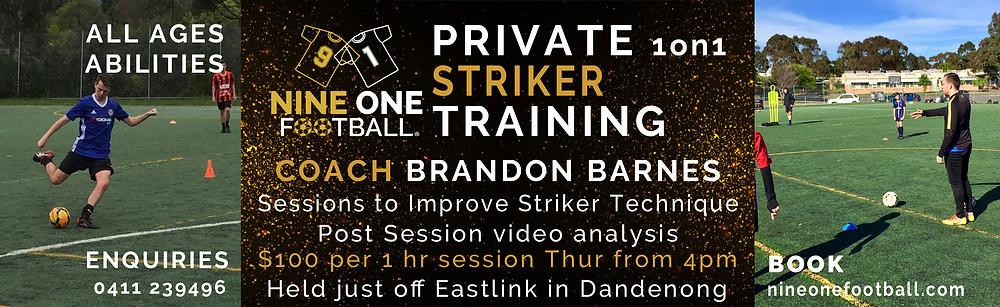 Private Striker Training Melbourne