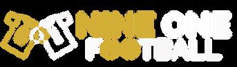 Nine One Full Logo Gold White.png