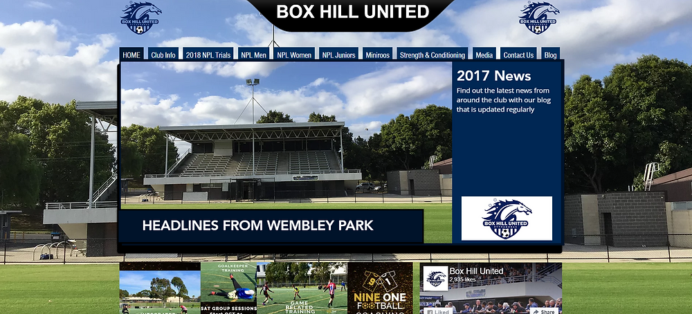 Box Hill United Website