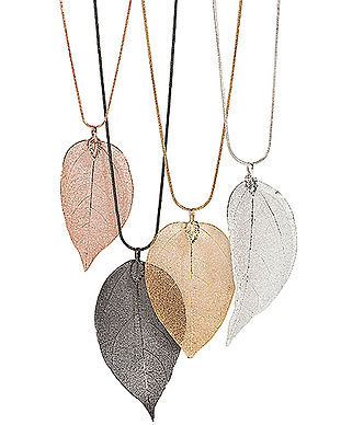 Real leaf necklaces.jpg