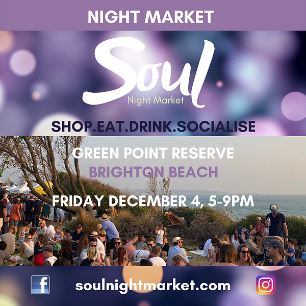 Soul Night Market Brighton Beach Poster
