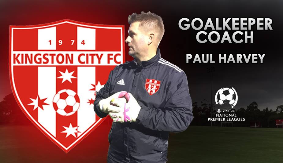 GK Coach Paul Harvey wearing KA Gloves