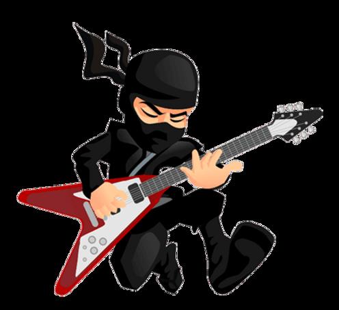 Rockstar Ninja Cartoon
