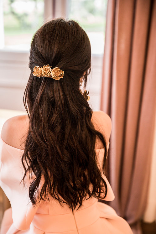 Barrette Roses Gold