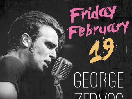 George Zervos Live Fri. 19/2 στο Bourbon (Γλυφάδα)
