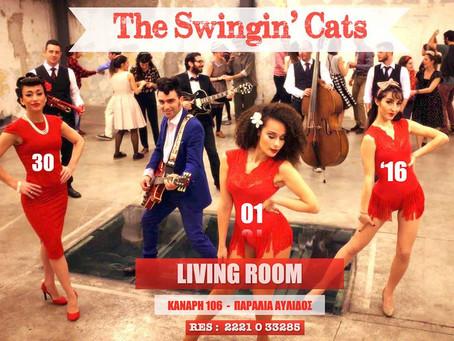The Swingin' Cats live @Livining Room (Αυλίδα)