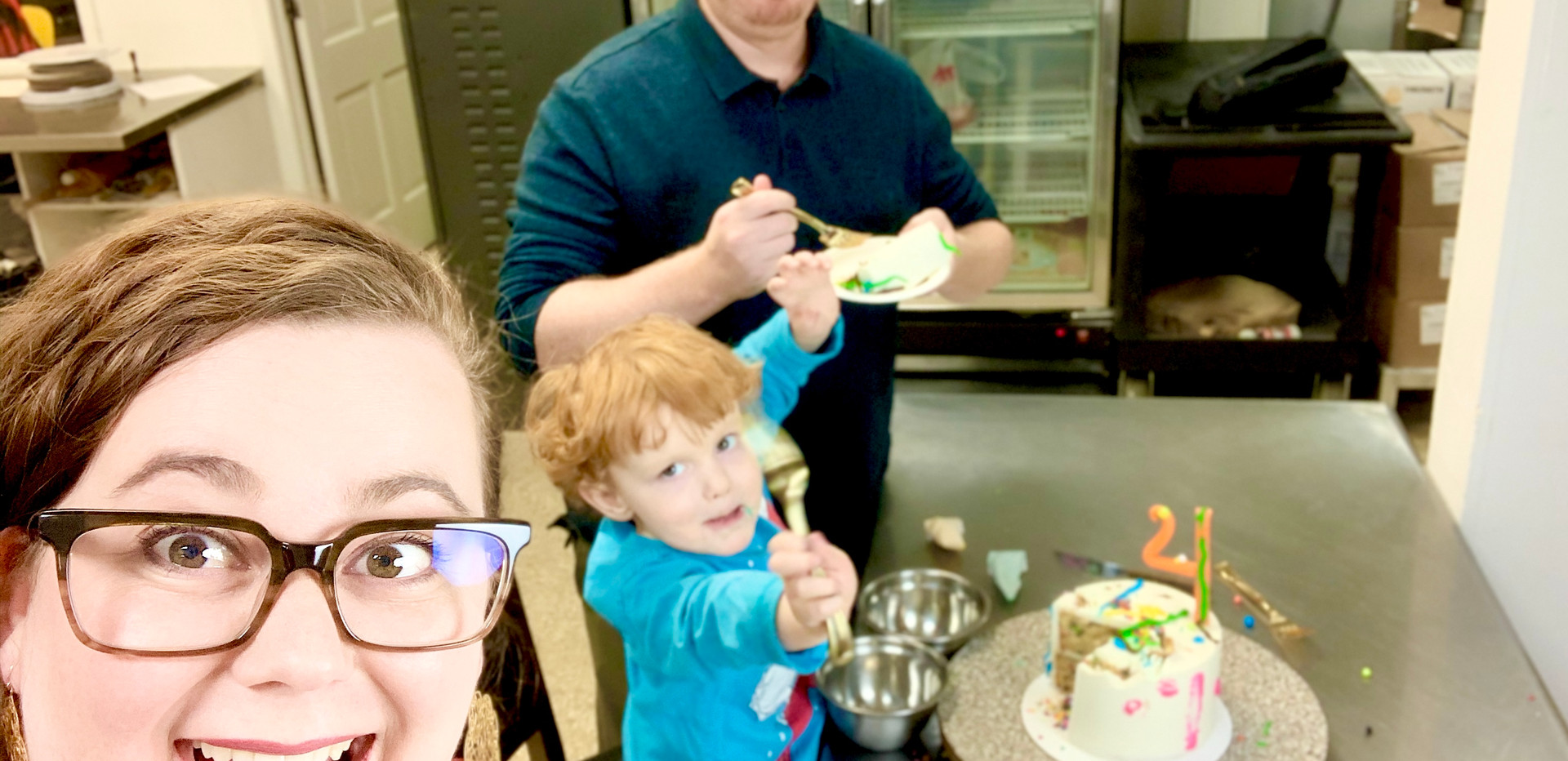 Cake Decorating with the Family