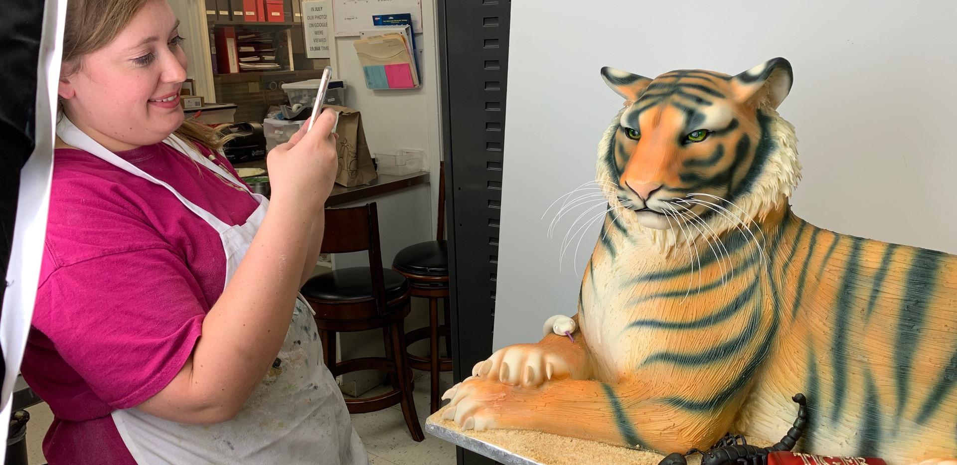 Sculpted Tiger