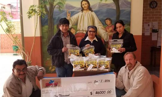 A $8,000 Donation to a Church group South America Peru