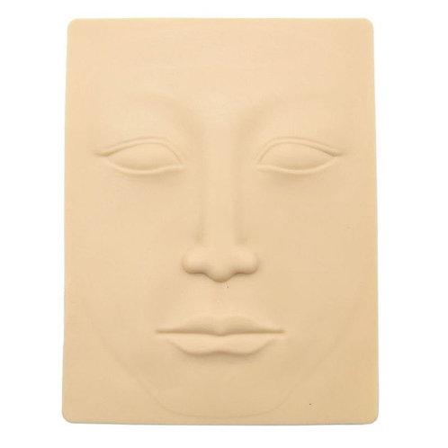 Peau de Pratique Synthétique en Forme de Visage pour Microblading et Maquillage