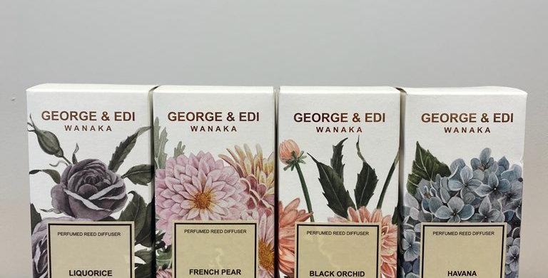 George & Edi Perfume Reed Diffusers