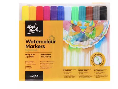 Signature Watercolour Markers 12pc Tri Grip