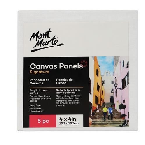 Signature Canvas Panels Pack 5 10.2 x 10.2cm (4 x 4in)