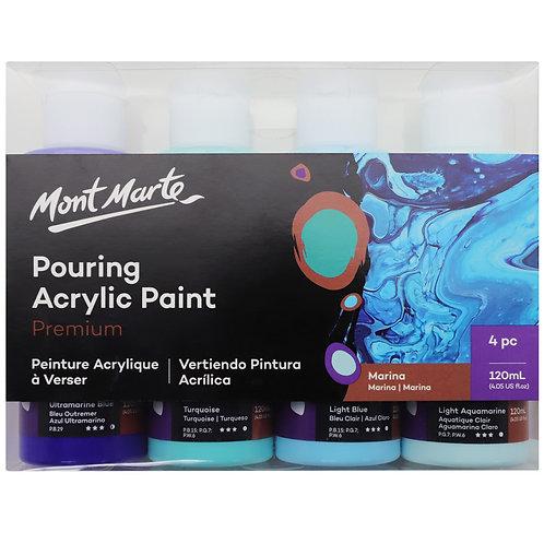 Premium Pouring Acrylic Paint 120ml 4pc Set
