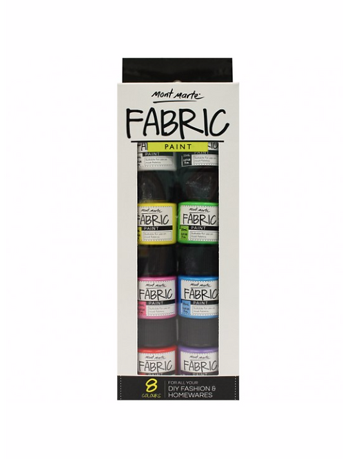 Fabric Paint Set 8pce x 20ml