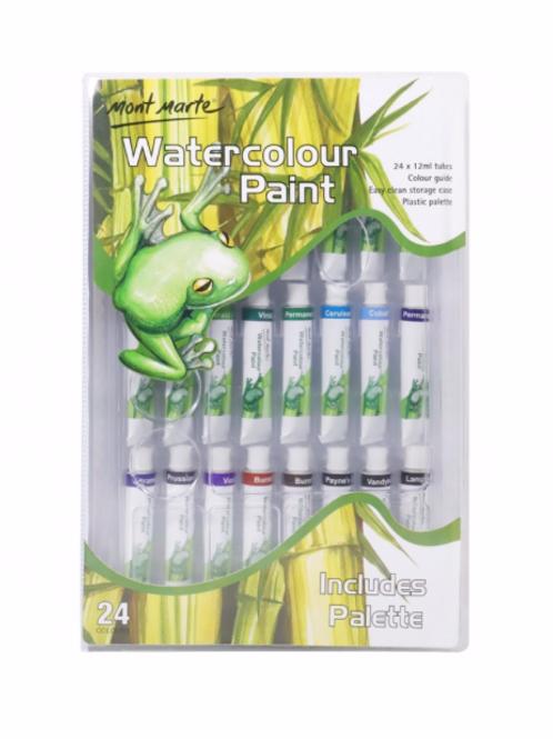 Watercolour Paint Set - 24 colours