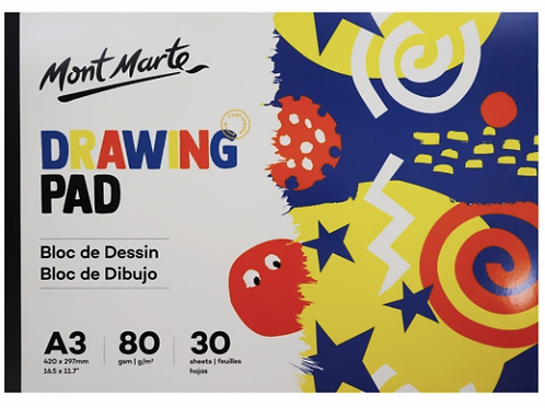 Drawing Pad A3 and A4 80gsm 30 sheets