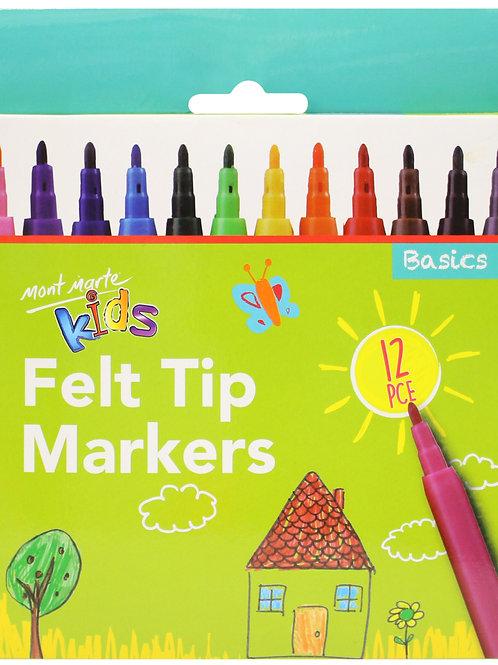 Kids Felt Tip Markers 12pce – Basics