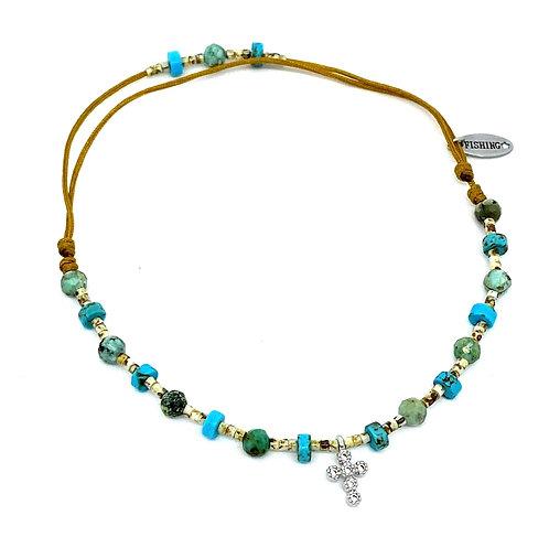 Copie de Bracelet de cheville BLUE LAGON