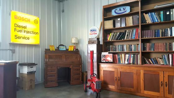 Museum bookcase.