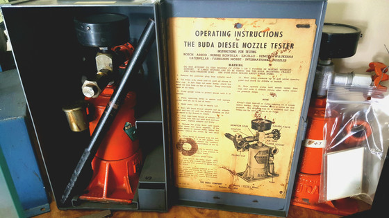 The Buda diesel nozzle tester.