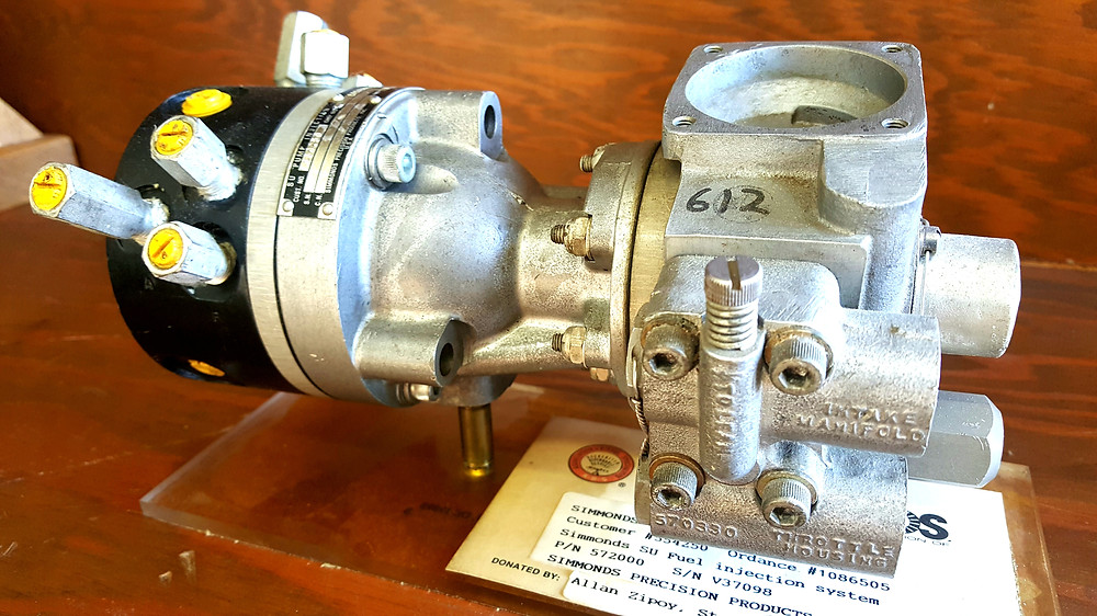 Simmonds gasoline injection pump.