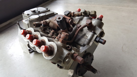 American Bosch gasoline injection pump for nine cylinder radial Wright engine.  circa 1939-1943.