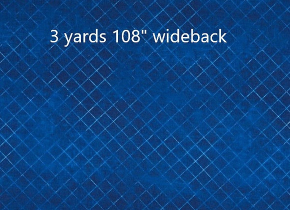 "3 yards of Blue Trellis 108"""