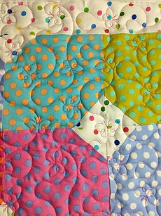 simple butterfly meander longarm quiltin