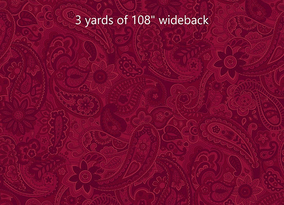 3 yards Red Paisley