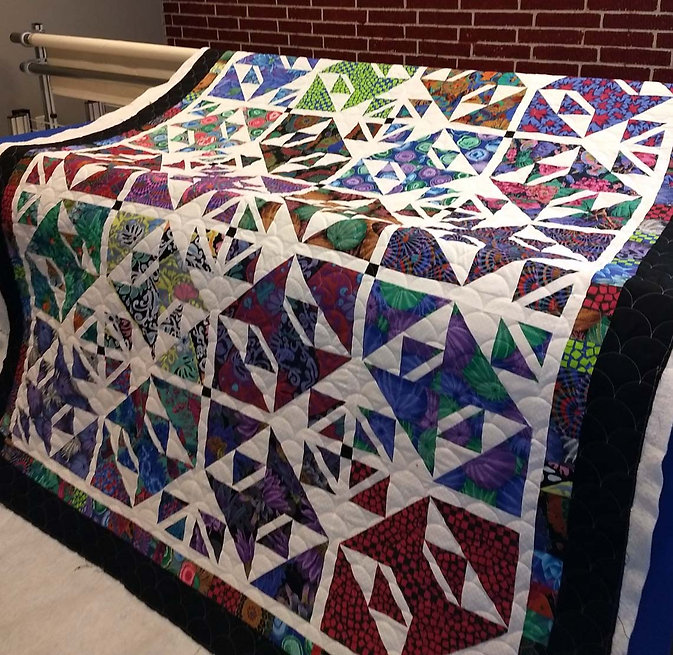 queen size quilt with longarm quilting b