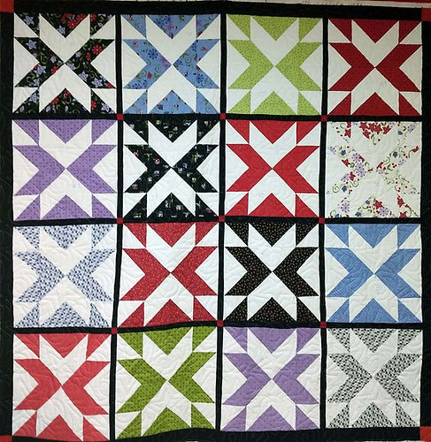 Star quilt with Becker's Star longarm qu