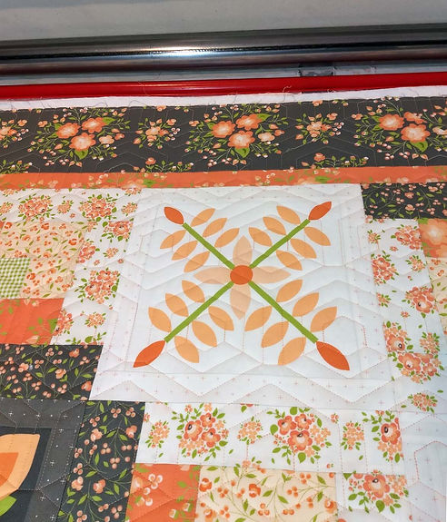 Honey Hexagons longarm quilting design.j