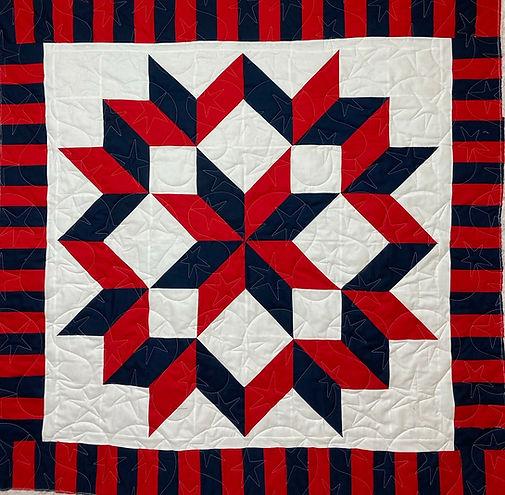 Patriotic medallion quilt