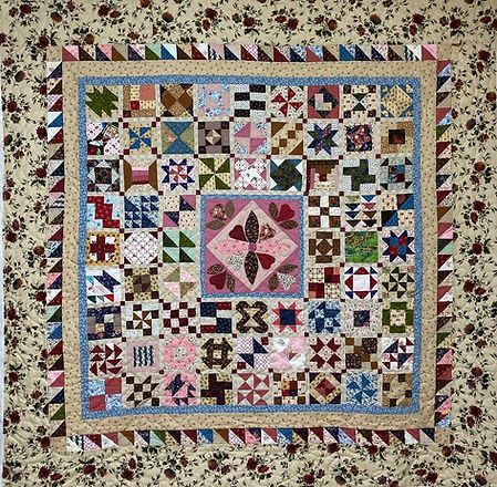 Sampler quilt longarm quilting by Apple