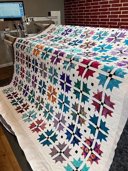 colorful quilt white sashing