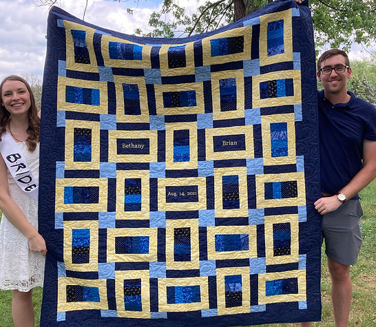 Brian and Bethany bridal shower quilt