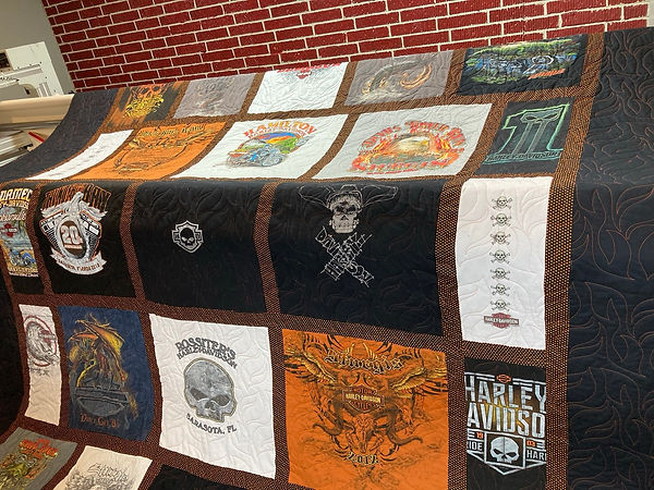 Flames tee quilt