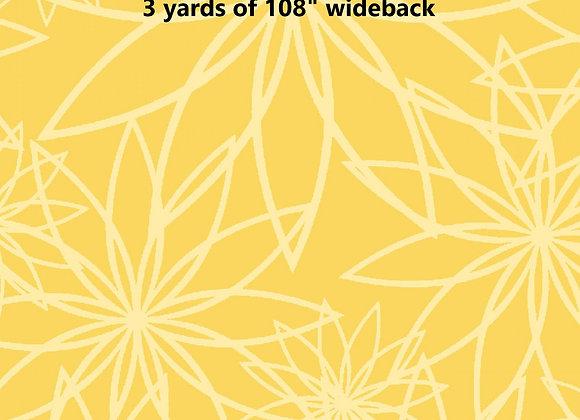 3 yards of Sunshine Star Flower 108 wide
