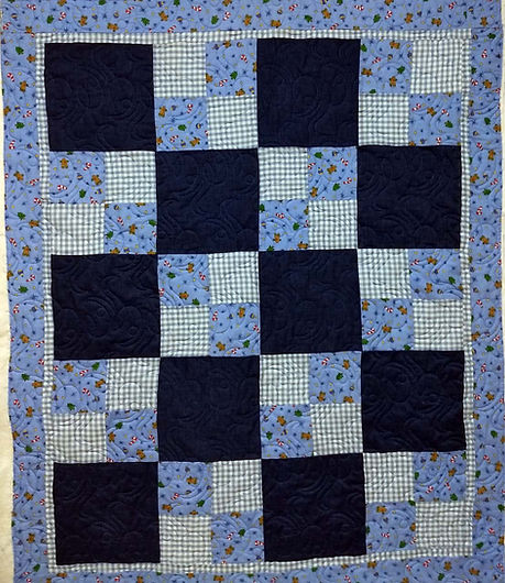 simple quilt with Lyrical longarm quilti