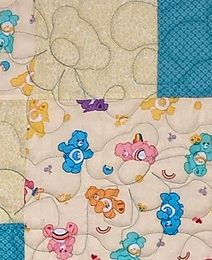Baby Bear longarm quilting design
