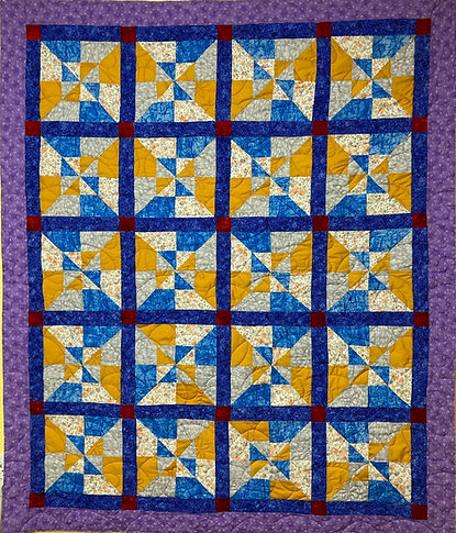a donation quilt a longarmed for my church